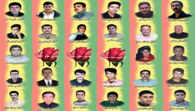 Víctimas del levantamiento del 12 de marzo Rojava