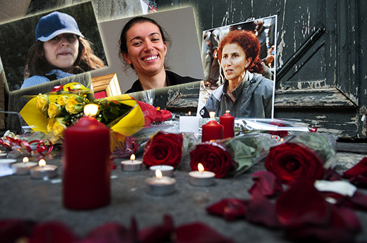 Kurdas asesinadas en Paris