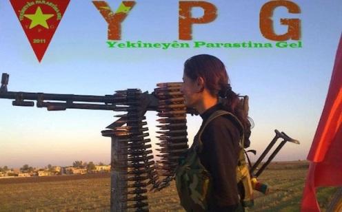 Una guerillera de las Unindades de Protección Popular (YPG, según sus silgas en kurdo)