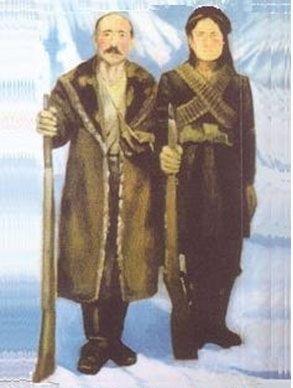 Un retrato de Ali Sher y Zerîfe Xanim