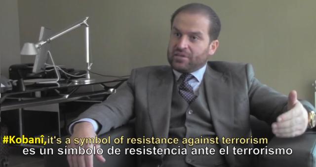 El diplomático kurdo entrevistado por El Orden Mundial / Youtube