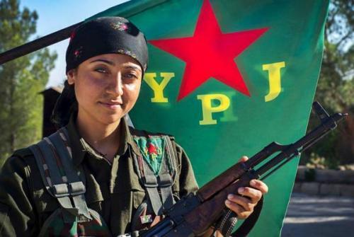 Combatiente de la Fuerzas de Defensa Feminina (YPJ, en sus siglas kurdas)