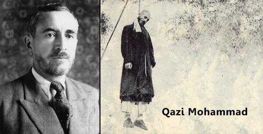 El presdidente Qazi Mohammad