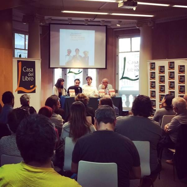 Presentación del libro de Mario Cuesta en las Casa del Libro - Madrid / Facebook:  Por encima de mi cadáver