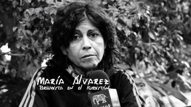 María Álvarez brigadista en el Kurdistán