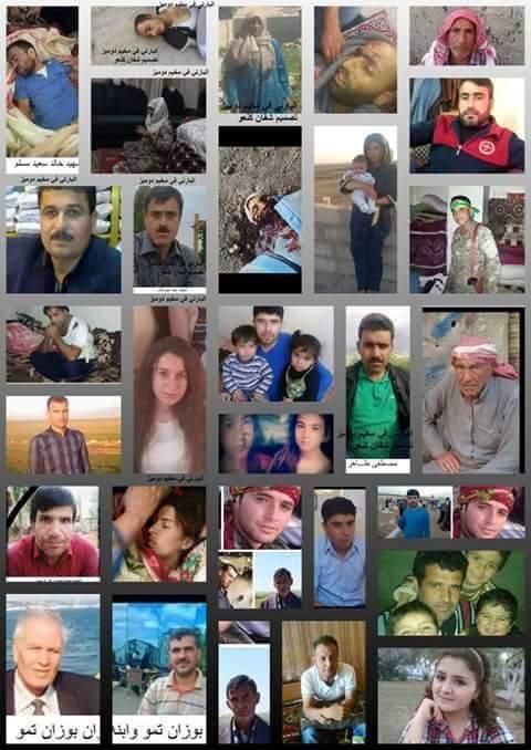 Algunas victimas de las masacres de Kobane / Facebbok
