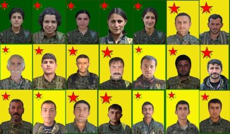 Fotos de combatientes del YPJ y YPG que murieron en los enfrentamientos con los extremistas / Hawar News